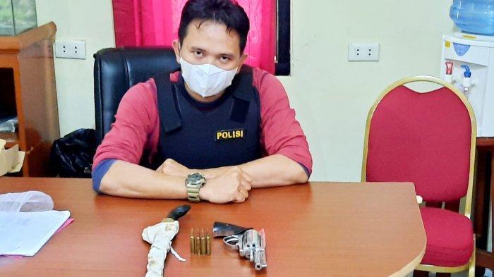 Polisi Amankan Koordinator Illegal Logging di Gantung, Pistol Rakitan dan Keris Berhasil Diamankan