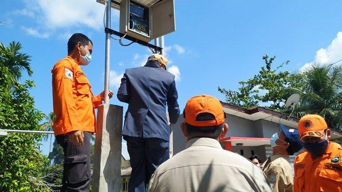 Antisipasi Bencana di Kampung Amau, Pemkab Belitung Pasang Alat Pendeteksi Banjir