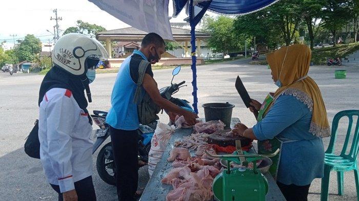 Operasi Pasar di Tanjungpandan, Harga Daging Ayam Rp 38.000 Per Kg, Harga di Pasar Berbeda