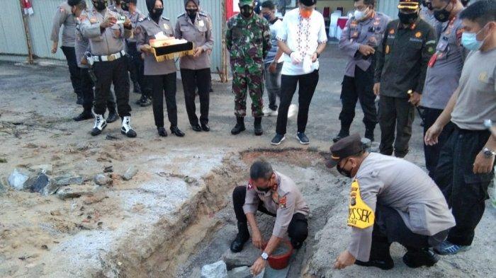 Kapolda Letakan Batu Pertama Pembangunan Gedung Satres Narkoba dan Sat Binmas Polres Belitung
