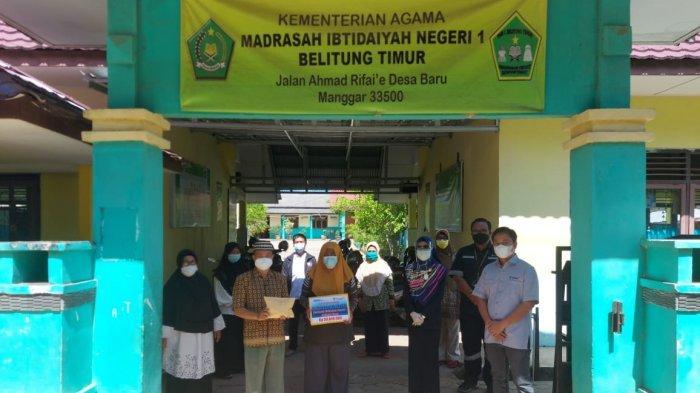 PT Timah Bantu Pembangunan Musala di MIN 1 Desa Baru Manggar