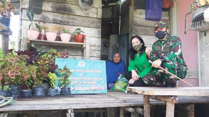 Dandim 0414 Belitung Beserta Jajaran Salurkan Paket Sembako Berbagi di Bulan Ramadan