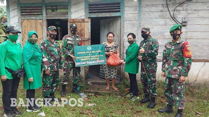Dandim 0414/Belitung Salurkan Bantuan Kebutuhan Pokok Gratis ke Warga Belitung Timur