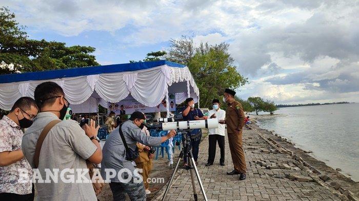Hasil Pemantauan Hilal di Belitung, 1 Syawal 13 Mei 2021