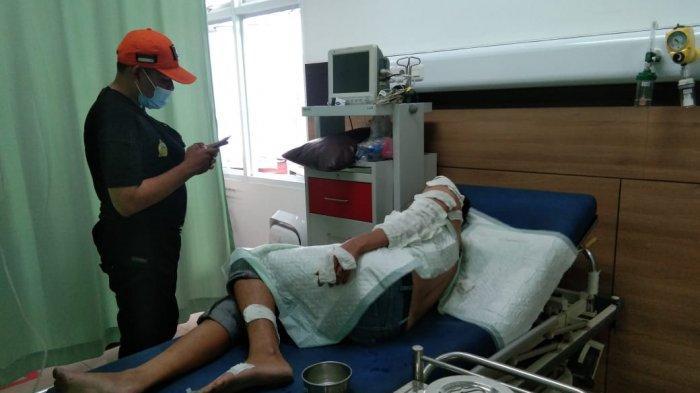 Mobil Avanza di Belitung Hangus Terbakar, Pemilik Mobil Terbakar Alami Luka Bakar Sebelah Kiri