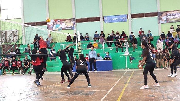 Klub Voli PJP Sungai Padang Taklukkan Voker 145 pada Kejuaraan Voli Piala Gubernur Bangka Belitung