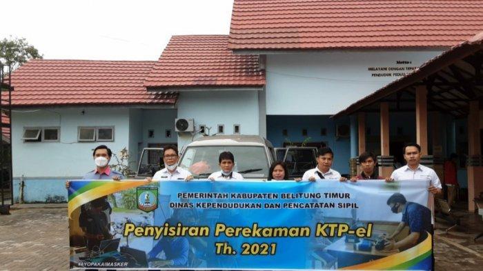3.800 Warga Belum Rekam KTP-el, Disdukcapil Belitung Timur Jemput Bola ke Desa-desa