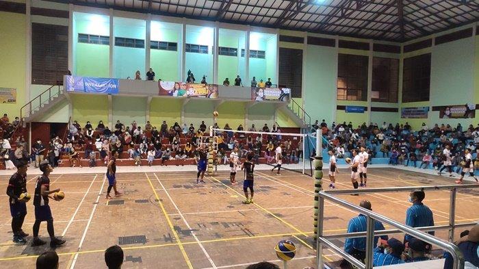 Tim Putri PJP Sungai Juarai Pertandingan Kejuaraan Bola Voli Piala Gubernur Bangka Belitung 2021