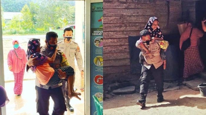 Brigadir Endro Nugroho Rela Gendong Nenek-nenek untuk Vaksinasi Covid-19