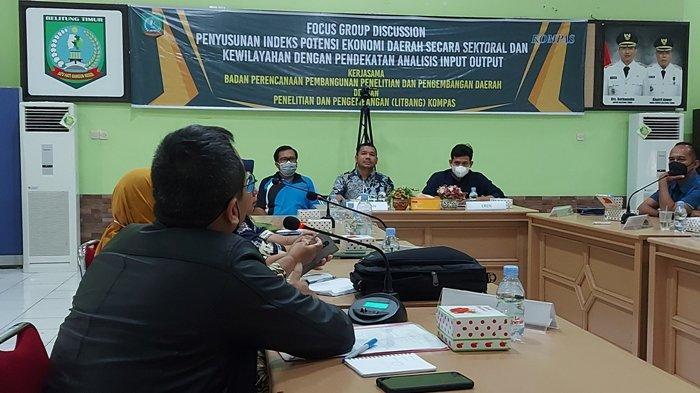 Bappelitbangda Belitung Timur Gandeng Litbang Kompas Susun Indeks Potensi Ekonomi Daerah