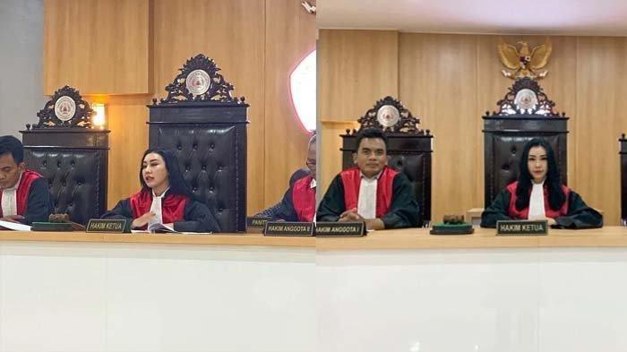 Saat Baby Sexyola menjadi hakim ketua di moot court