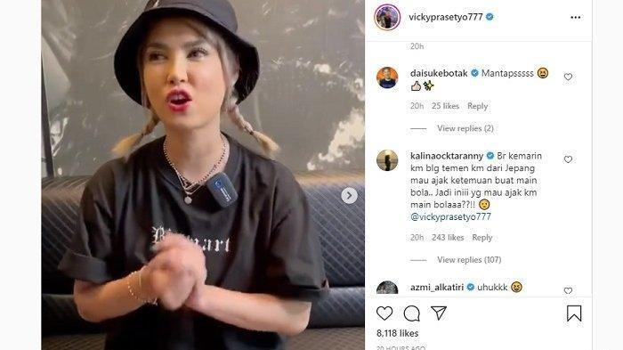 Mantan bintang porno Maria Ozawa menantang Vicky Prasetyo yang mengaku gladiator sejati untuk berkolaborasi apapun yang dimaunya hingga bikin Kalina marah