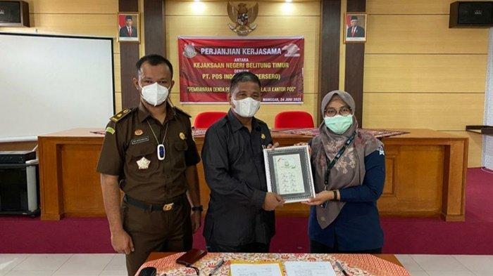 Pembayaran e-Tilang Kini bisa di Kantor Pos, Hasil Kerjasama dengan Pidum Kejari Belitung Timur