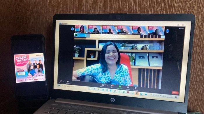 TikTokers Bulan Sutena Hadir di Telkomsel Celeb on Cam, Berbincang Seru dan Hibur Jurnalis Sumatra