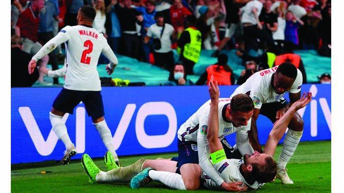 Inggris Melenggang ke Final Euro 2020, Berikut Fakta-fakta Menarik usai Taklukkan Denmark