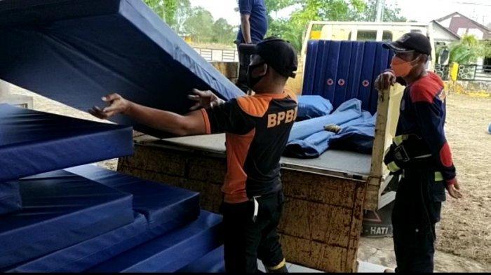 BPBD Belitung Timur Siapkan Logistik 28 Bed di Gedung BKJM Selinsing untuk Perawatan Pasien Covid-19