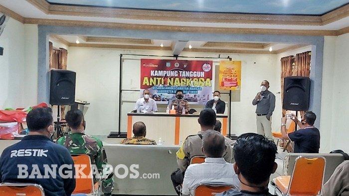 Desa Lalang Manggar Ditetapkan Jadi Kampung Tangguh Anti Narkoba di Belitung Timur