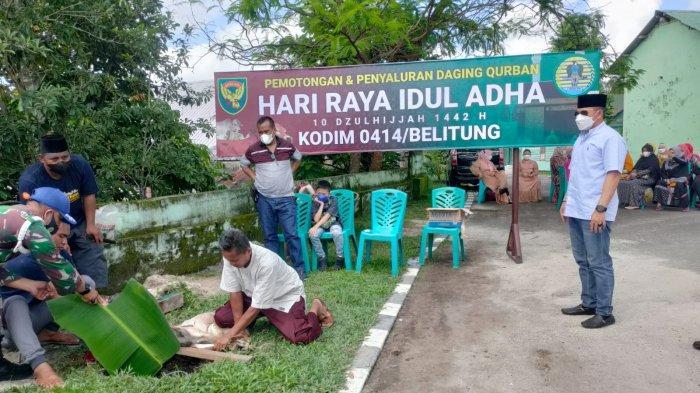 Rayakan Idul Adha 1442 Hijriah, Kodim 0414 Belitung Sembelih 9 Hewan Kurban