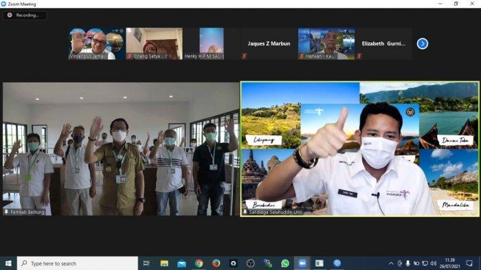 Menparekraf Akan Buka Vaksin Centredi Destinasi Wisata Belitung Percepat Herd Immunity