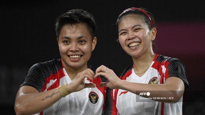 Greysia/Apriyani Raih Medali Emas Bagi Indonesia Usai Tumbangkan Wakil China 2 Gim Sekaligus