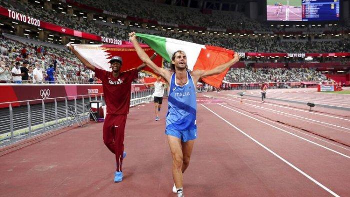 Momen Unik Olimpiade Tokyo, Beda Negara Dua Atlet Ini Berbagi Medali Emas, Ini Kisah Harunya