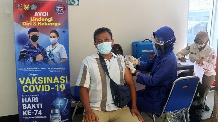 Serbuan Vaksinasi di Lanud HAS Hanandjoeddin Berakhir, 325 Warga Sudah Divaksin Gratis