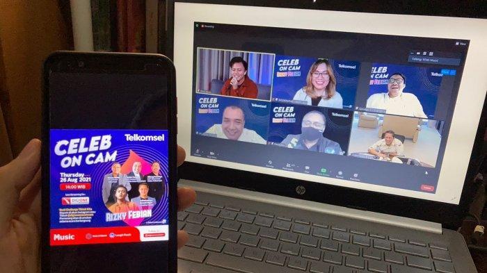 Bincang Seru dan Inspiratif, Telkomsel Hadirkan Penyanyi Rizky Febian di Celeb on Cam