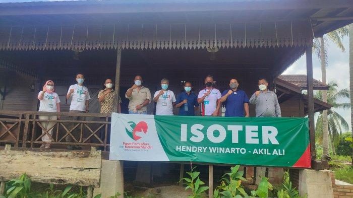 Kunjungan anggota komisi III DPRD Belitung Timur ke PPKM Hendry Winarto di Jalan Akil Ali, Tanjungpandan, Jumat (3/9/2021).