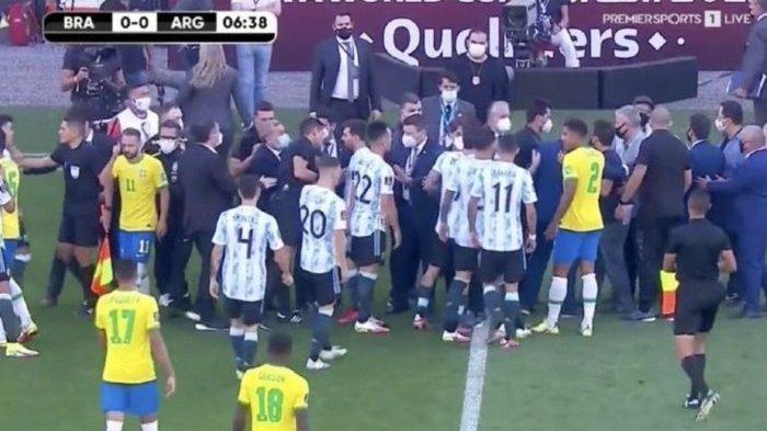 Lionel Messi Cs Dipermalukan, Baru 6 Menit Main Lawan Brasil, Argentina Diusir dari Lapangan