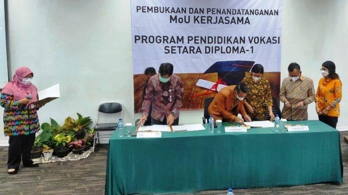 PT SMM Teken MoU dengan PTKI Medan Selenggarakan Pendidikan Setara D-1 di Dendang Beltim