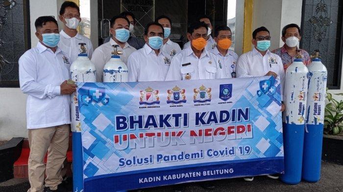 Belitung Dapat Bantuan 40 Tabung Oksigen dari Kadin, Sanem Ingatkan Tetap Jaga Prokes