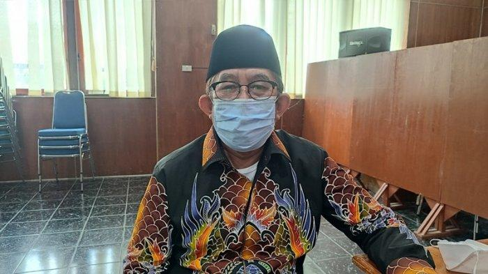 Ketua MUI Bangka Belitung H Zayadi Hamzah pada kegiatan roadshow halal, ekonomi syariah dan penanggulangan Covid-19 berbasis fatwa MUI di Kantor Bappeda Belitung, Rabu (8/9/2021).