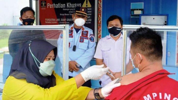 Serbuan Vaksinasi Sasar WBP Lapas Kelas II B Tanjungpandan