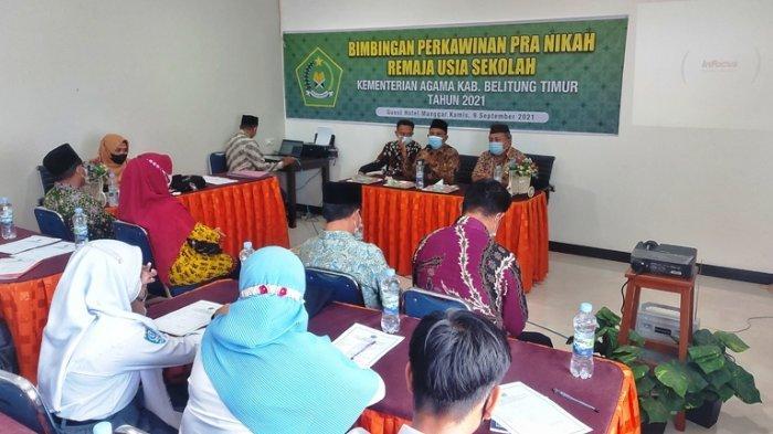70 Muda-mudi Belitung Timur Tak Mau Terjebak Pernikahan Dini, Ikut Bimbingan Pra Nikah dari Kemenag