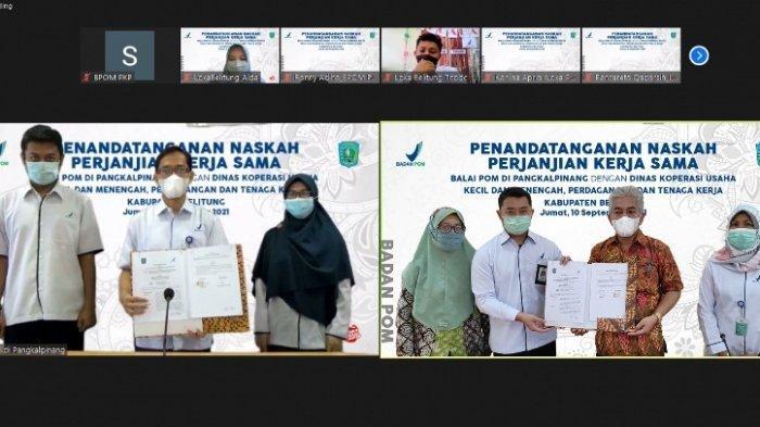Awasi Obat dan Makanan, Balai POM Pangkalpinang Jalin Kerja Sama dengan Dinas KUMKMPTK Belitung