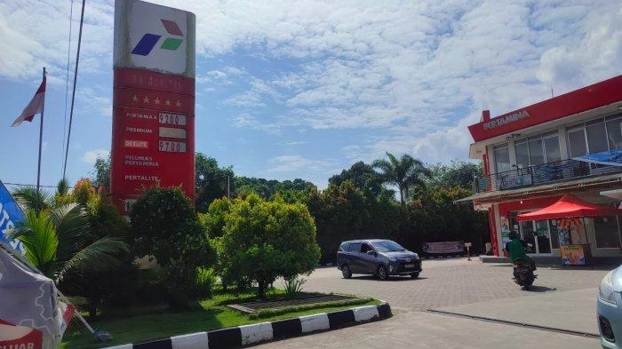 Kondisi SPBU Air Merbau, Tanjungpandan, Belitung, Jumat (10/9/2021) sekitar pukul 10.00 WIB.