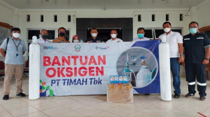 Pulau Belitung Terima 100 Tabung Oksigen dan 40 Regulator dari PT Timah Tbk