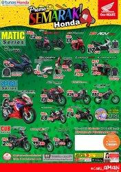 Price List Promo Semarak Honda