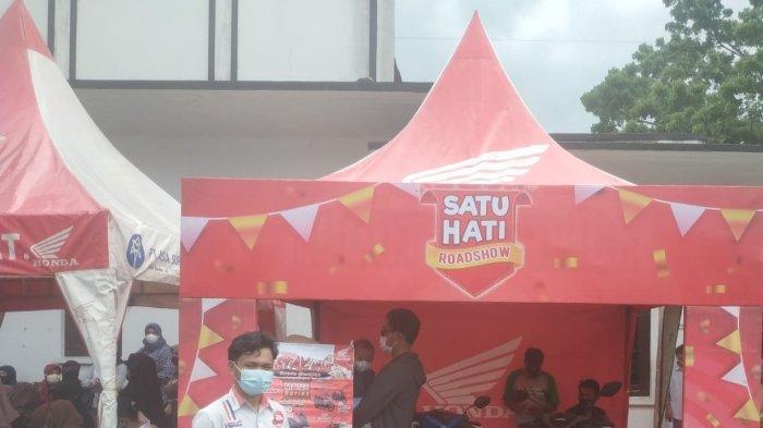 Road Show Honda ASP ddalam Kegiata Honda ASP Belitung Support Kegiatan Vaksinasi di Gedung nasional