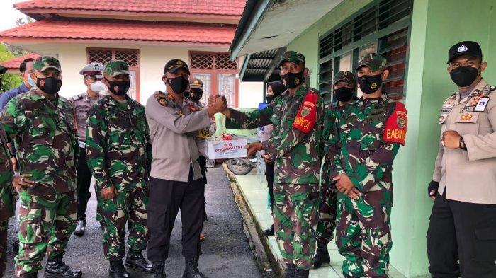 HUT TNI ke-76, Polsek Tanjungpandan Berikan Kejutan ke Koramil
