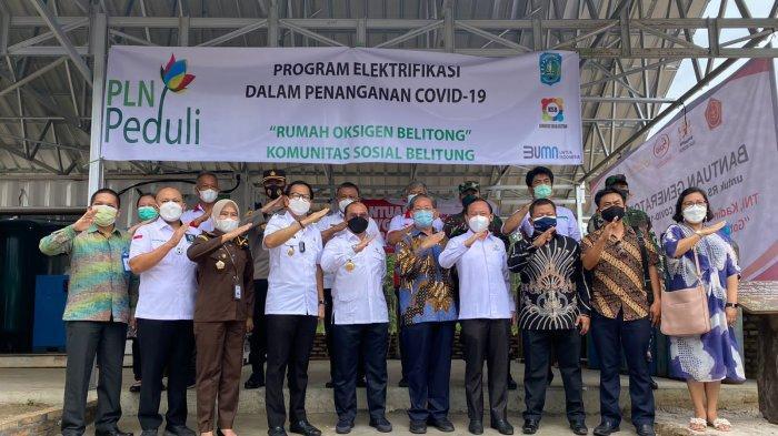PLN Salurkan Elektrifikasi Rumah Oksigen di Belitong, Gubernur: Kolaborasi yang Patut Diapresiasi