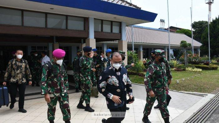 Gubernur Bangka Belitung Erzaldi Berikan Apresiasi kepada KASAL Laksamana TNI Yudo Margono