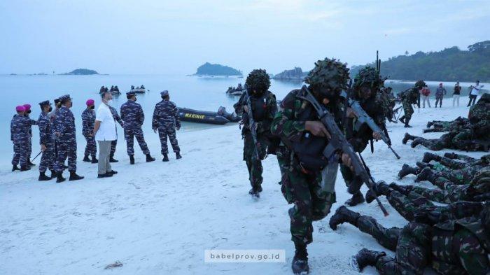 Erzaldi Terpukau Lihat Aksi Heroik Pasukan Khusus TNI di Latihan Operasi Amfibi di Tanjung Kelayang
