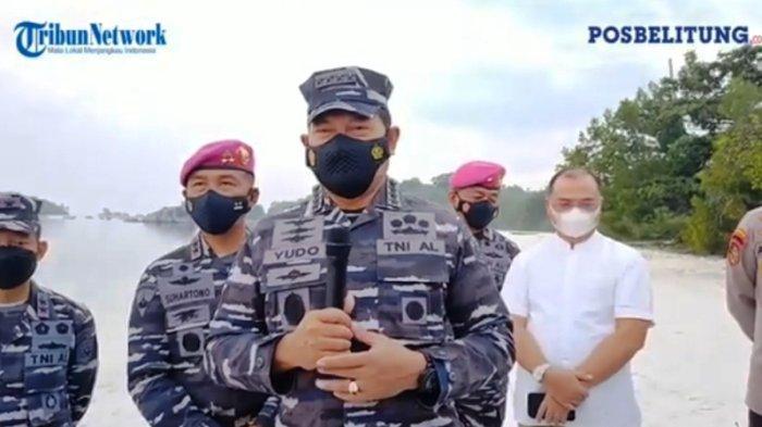 Berada di Jalur ALKI, Pos TNI AL Mendanau Belitung Dikaji untuk Ditingkatkan Jadi Lanal