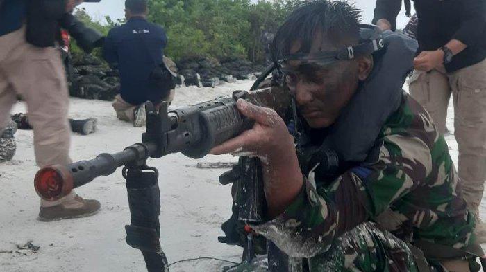 Mendadak KASAL Perintahkan Taifib Korps Marinir TNI AL Ratsus di Pantai Tanjung Kelayang