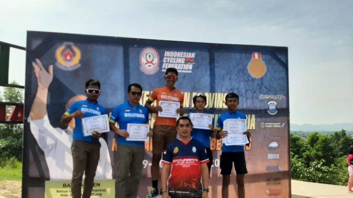 Lima Atlet Pesepeda Belitung Borong Delapan Medali di Ajang Kejurda ISSI Bangka Belitung
