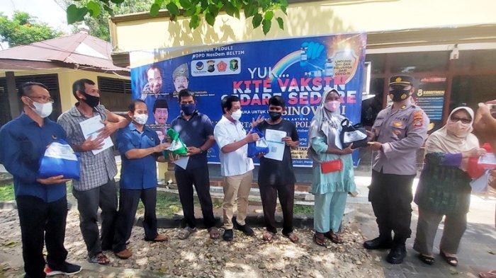 Polsek Gantung dan Partai Nasdem Kolaborasi Gelar Vaksinasi Covid-19, Upaya Genjot Capaian Vaksinasi