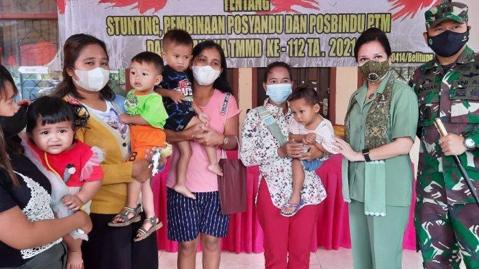 Program TMMD ke-112 Gelar Penyuluhan Pencegahan Stunting di Desa Kelubi Manggar