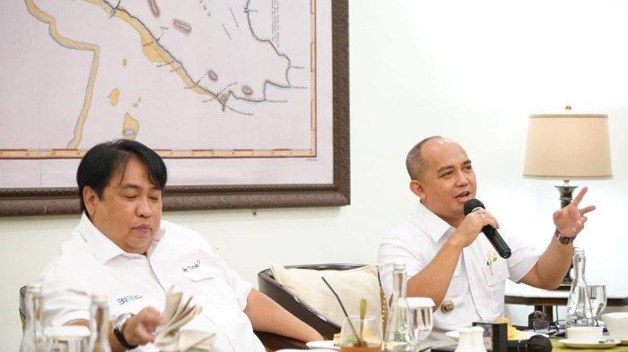 Wali Kota Pangkalpinang Maulan Aklil diundang PT Timah Tbk dalam acara media gathering Nasional di Tins Galery, Selasa (12/10/2021
