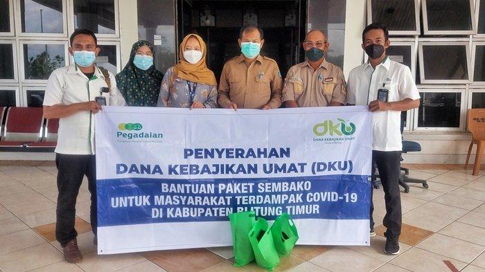PT Pegadaian Tanjungpandan Serahkan 100 Paket Bantuan Covid-19 ke Pemkab Beltim